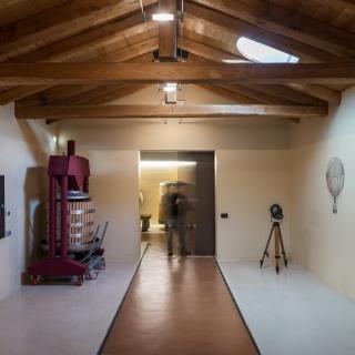 La sala vendemmia e degustazione (foto M.Rossi)